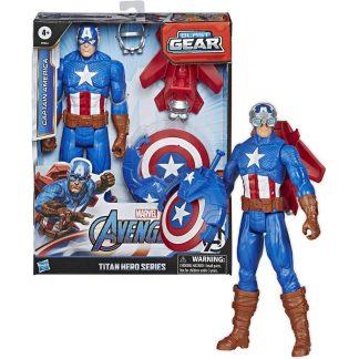 Avengers Kapitonas Amerika su ginklu