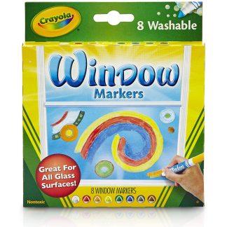 Crayola Nuplaunami žymekliai piešimui ant langų 8 vnt