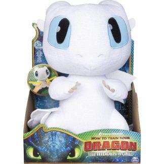 Dragons Pliušinis žaislas slibinas Lightfury su garsu 26 cm