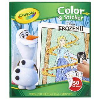 Frozen II Crayola spalvinimo knygelė su lipdukais Ledo šalis
