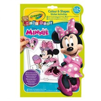 Mickey Mouse - Crayola spalvinimo knygelė su lipdukais Pelytė Minė