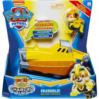 Paw Patrol Transporto priemonė Charged Up su figūrėle Rubble