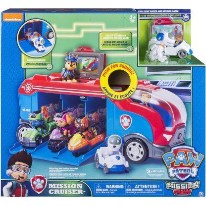Paw Patrol Transporto priemonė Mission Cruiser su figūrėle Robo Dog