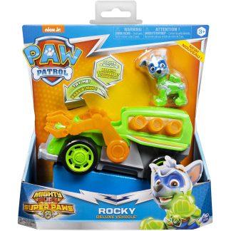 Paw Patrol Transporto priemonė Super Paw su figūrėle Rocky