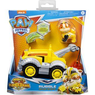 Paw Patrol Transporto priemonė Super Paws su figūrėle Rubble
