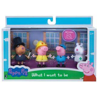 Peppa Pig Figūrėlių rinkinys Profesijos 4 vnt