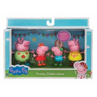 Peppa Pig Figūrėlių rinkinys Šeimos šventė 4 vnt