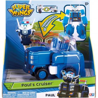 Super Wings Transformuojamas robotas su figūrėle Paul