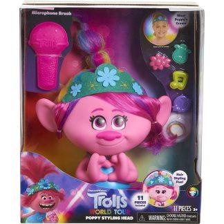 Trolls - Princesės Poppy plaukų modeliavimo galvytė